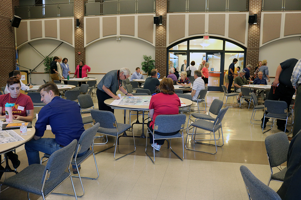 People gathered for a community planning meeting in Berryhill