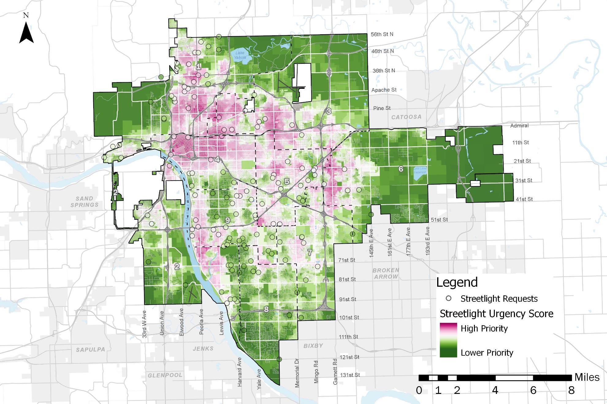 Map of Streetlight Requests