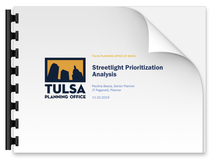 Streetlight Prioritization Report Cover