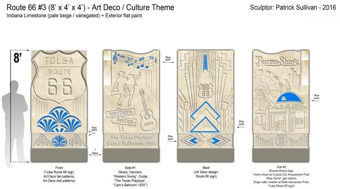 Conceptual drawings of statues proposed for Howard Park